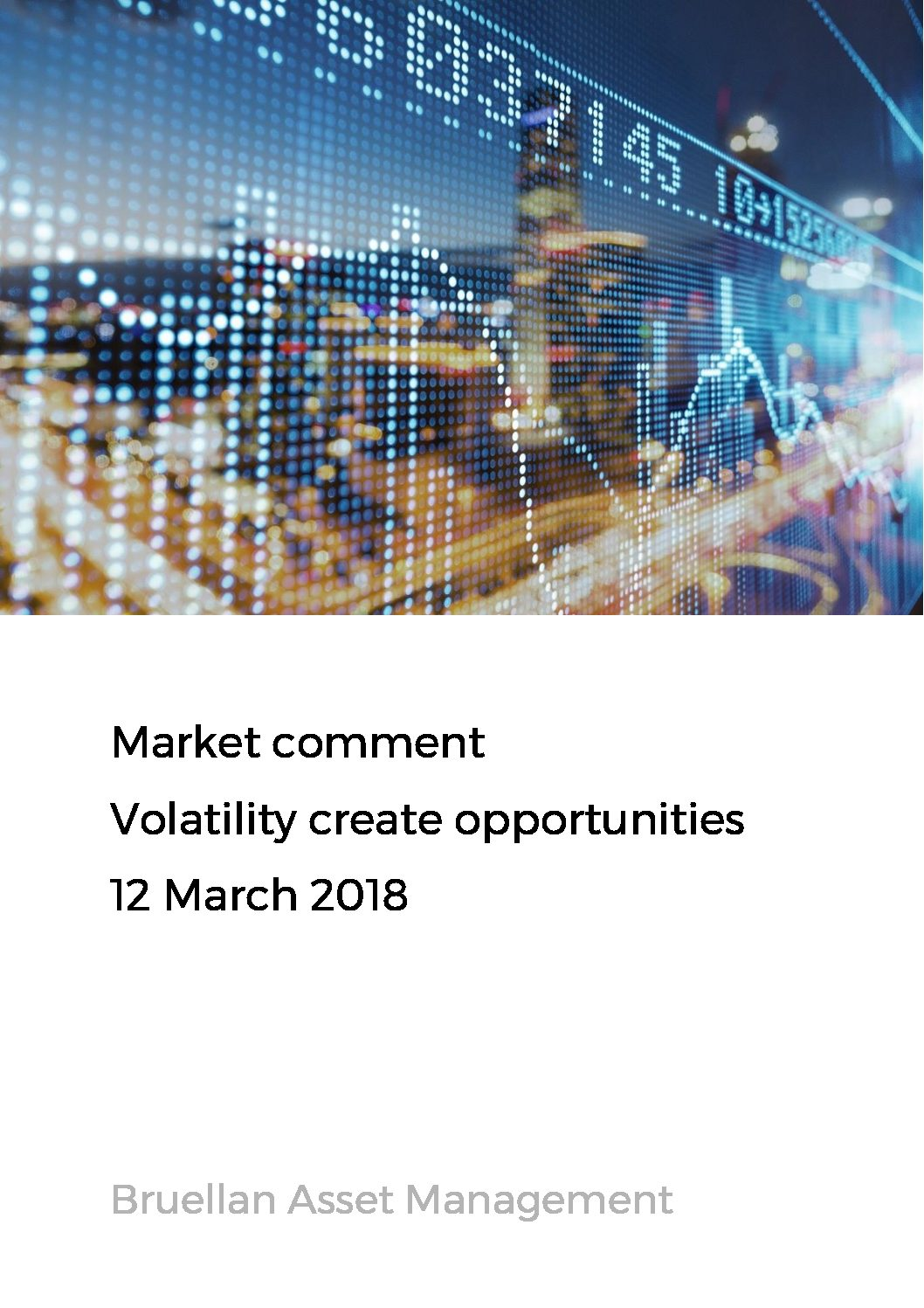 Market Comment - Volatility create opportunities